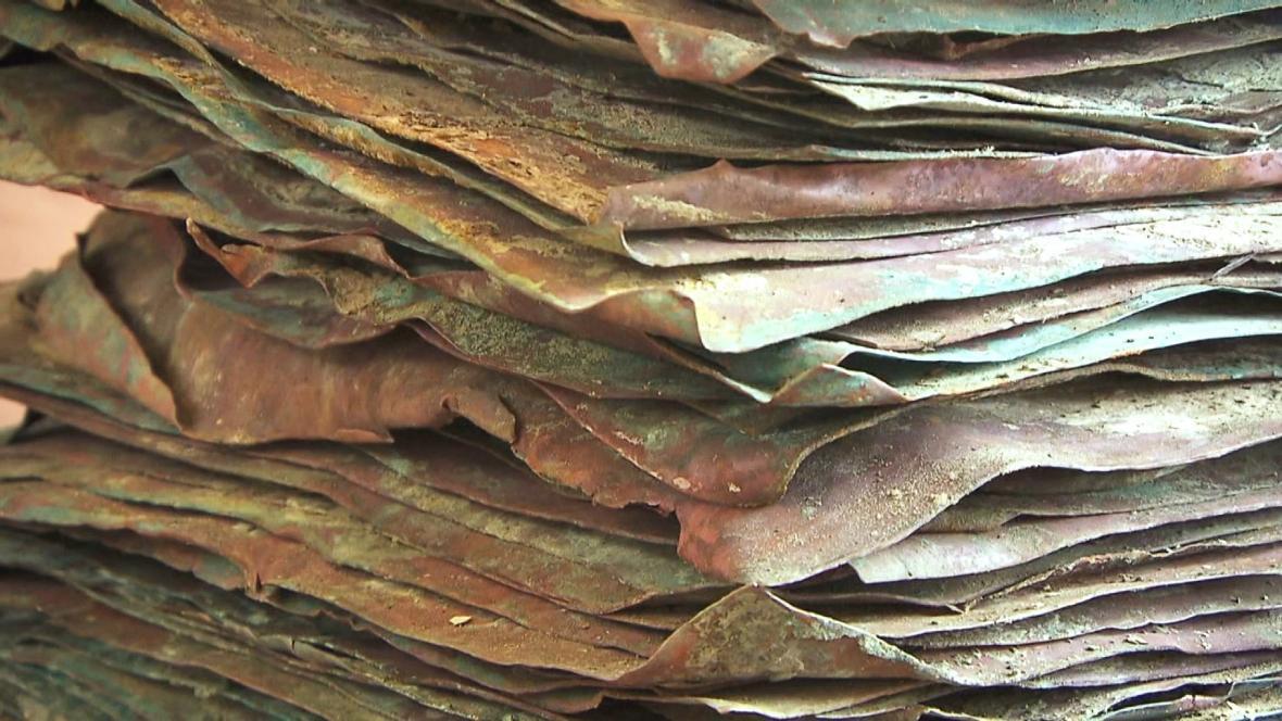 Měděné desky objevené ve vraku lodi potopené u Nizozemska