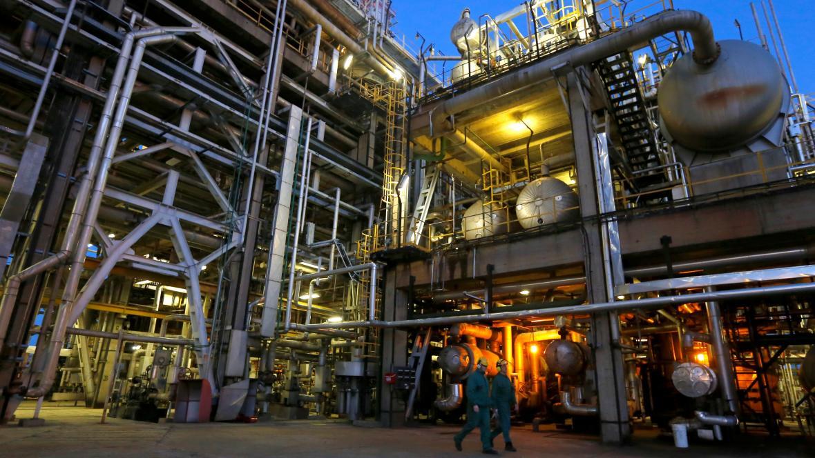 Rafinerie společnosti MOL v Maďarsku