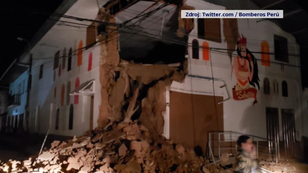 Následky zemětřesení v Peru