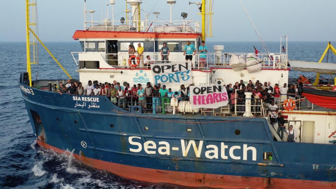 Loď neziskové organizace Sea Watch