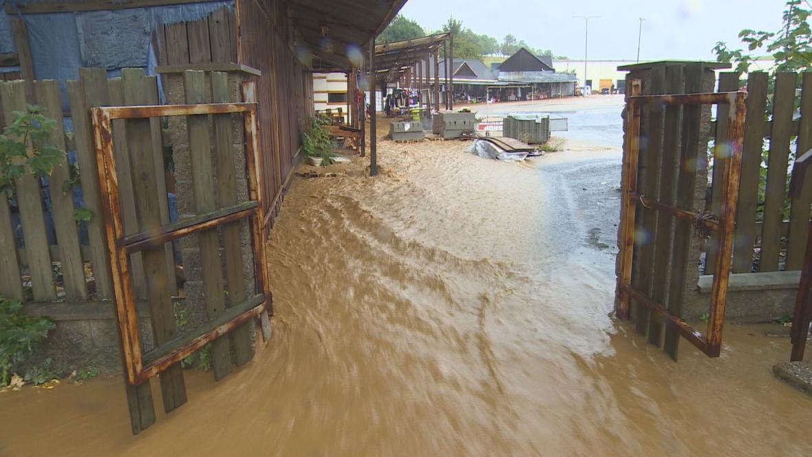 Následky přívalového deště na severu Čech