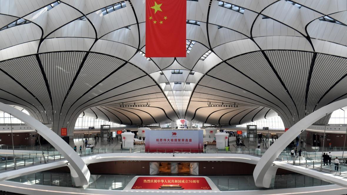 Nové čínské letiště Ta-sing