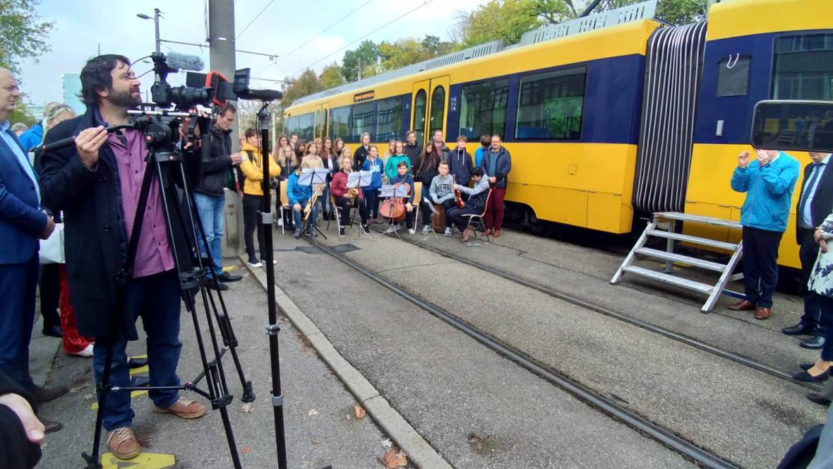 Slavnostní křest tramvaje