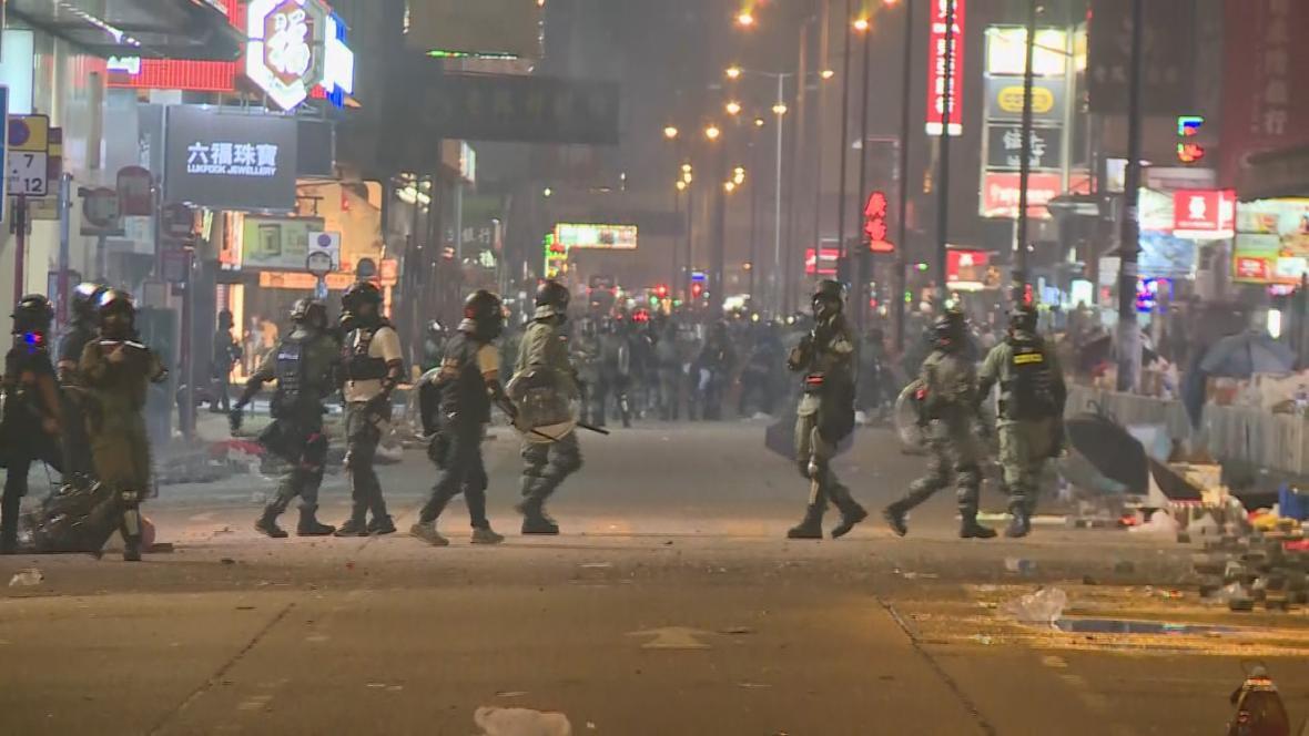 Zásah policie v živém vstupu