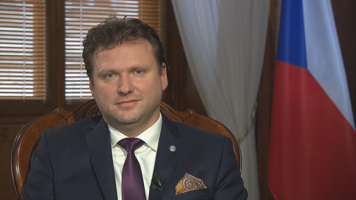 Předseda poslanecké sněmovny Radek Vondráček při novoročním projevu