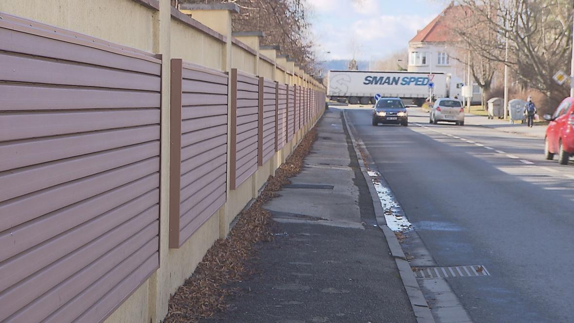 Protihluková stěna v Prostějově