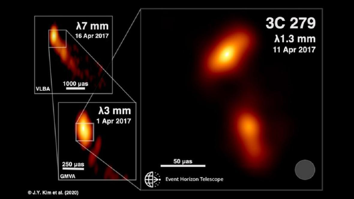 Výtrysk plazmy  černé díry