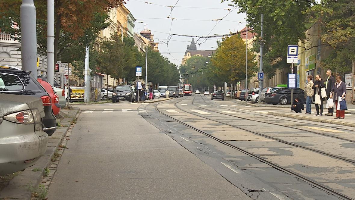 Ulice Veveří v Brně