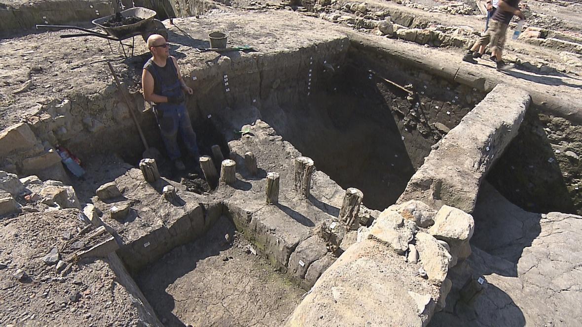Archeologický výzkum v centru Ostravy