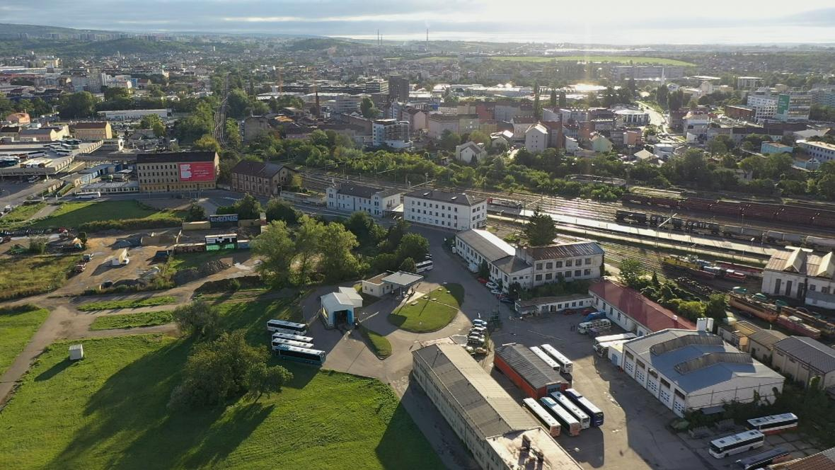 Prostor pro nové nádraží v Brně