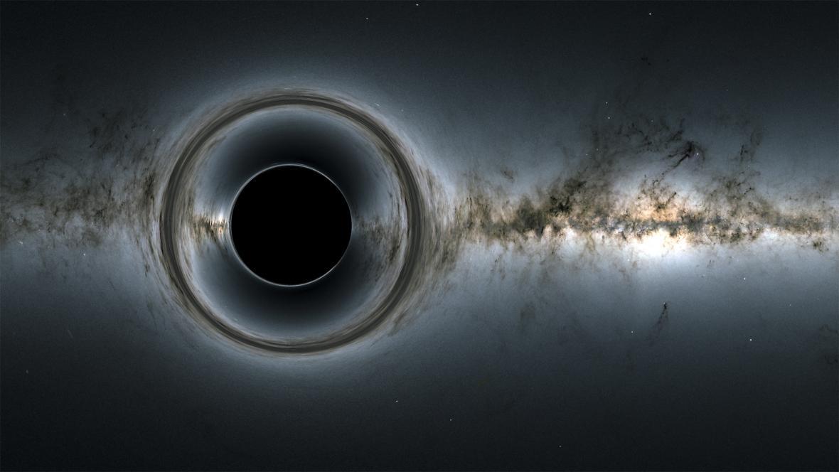 Simulace černé díry