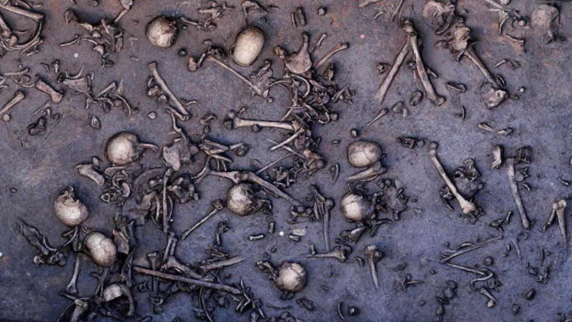 Kostry nalezené na místě bitvy u Tollense
