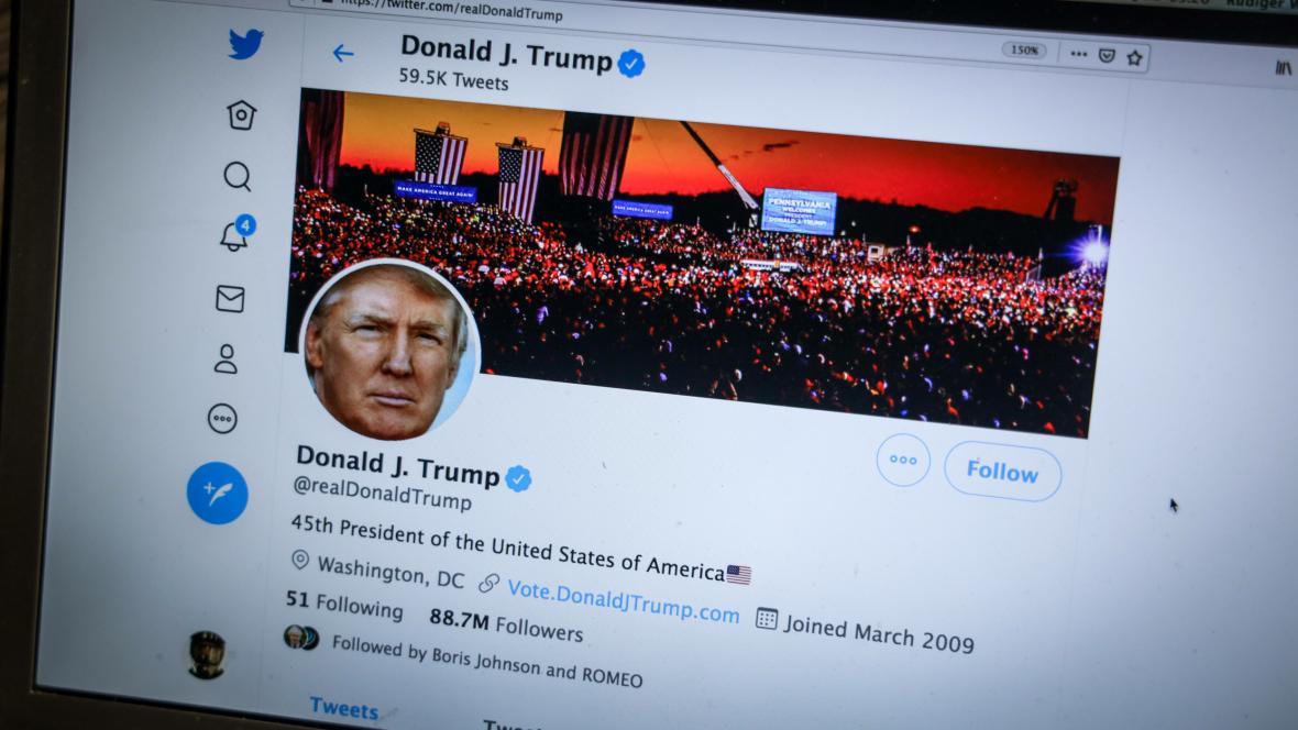 Twitterový účet Donalda Trumpa