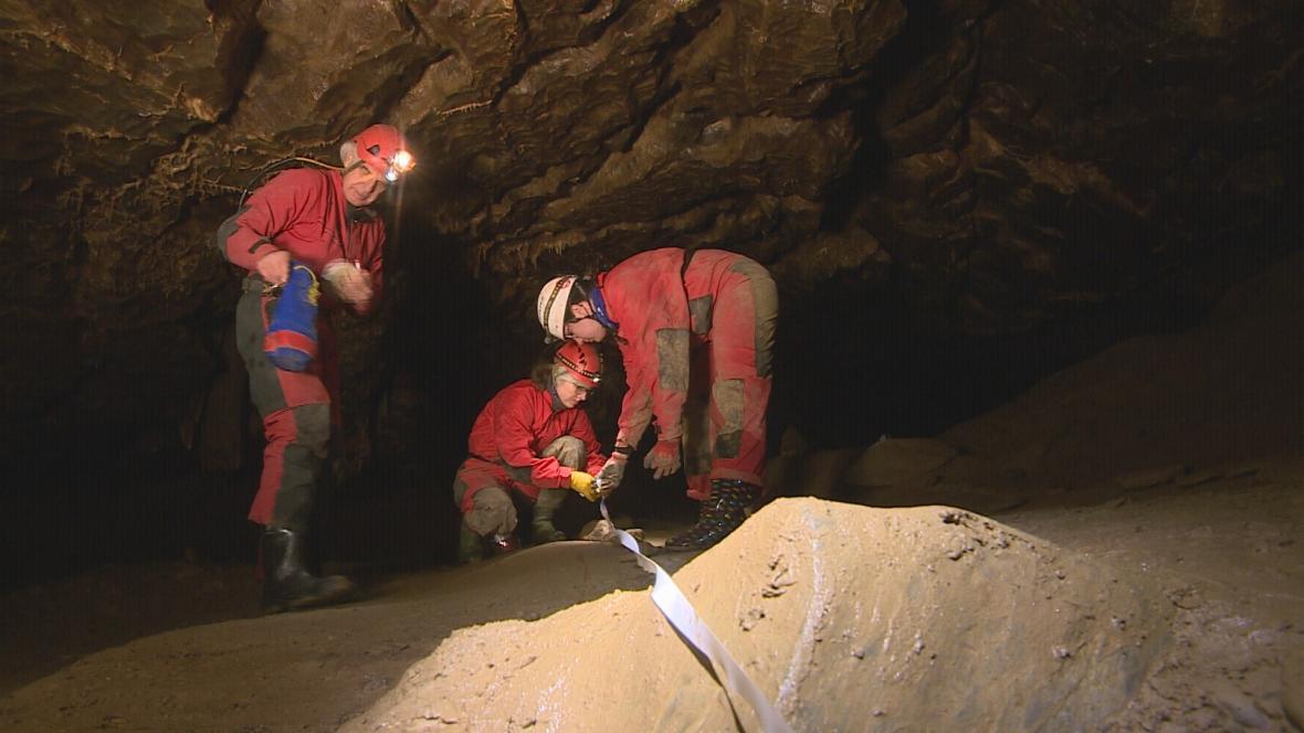 Nové značení v Amatérské jeskyni