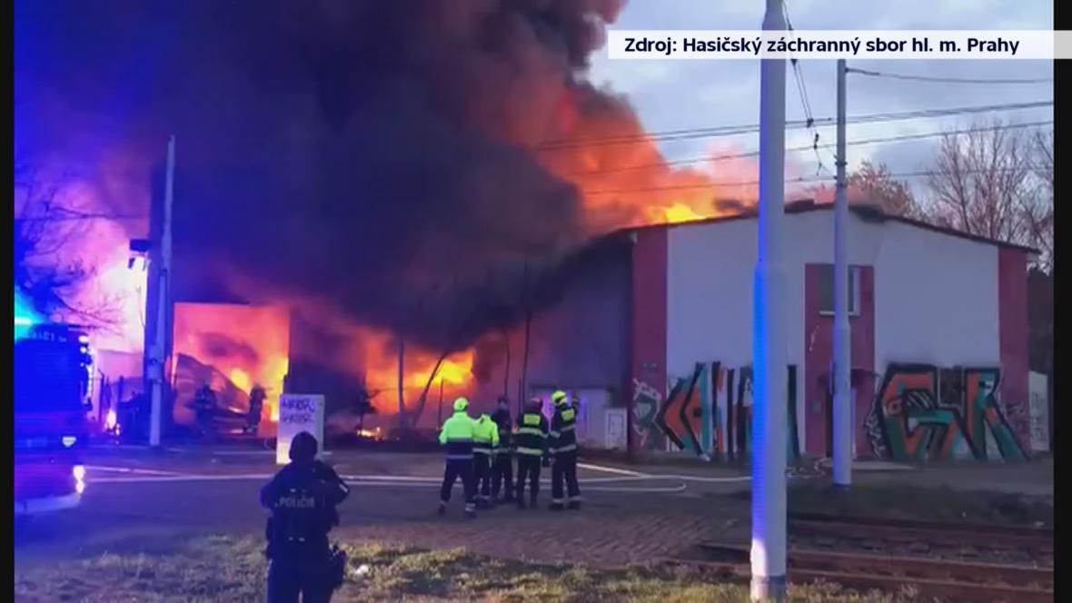 Požár v Braníku