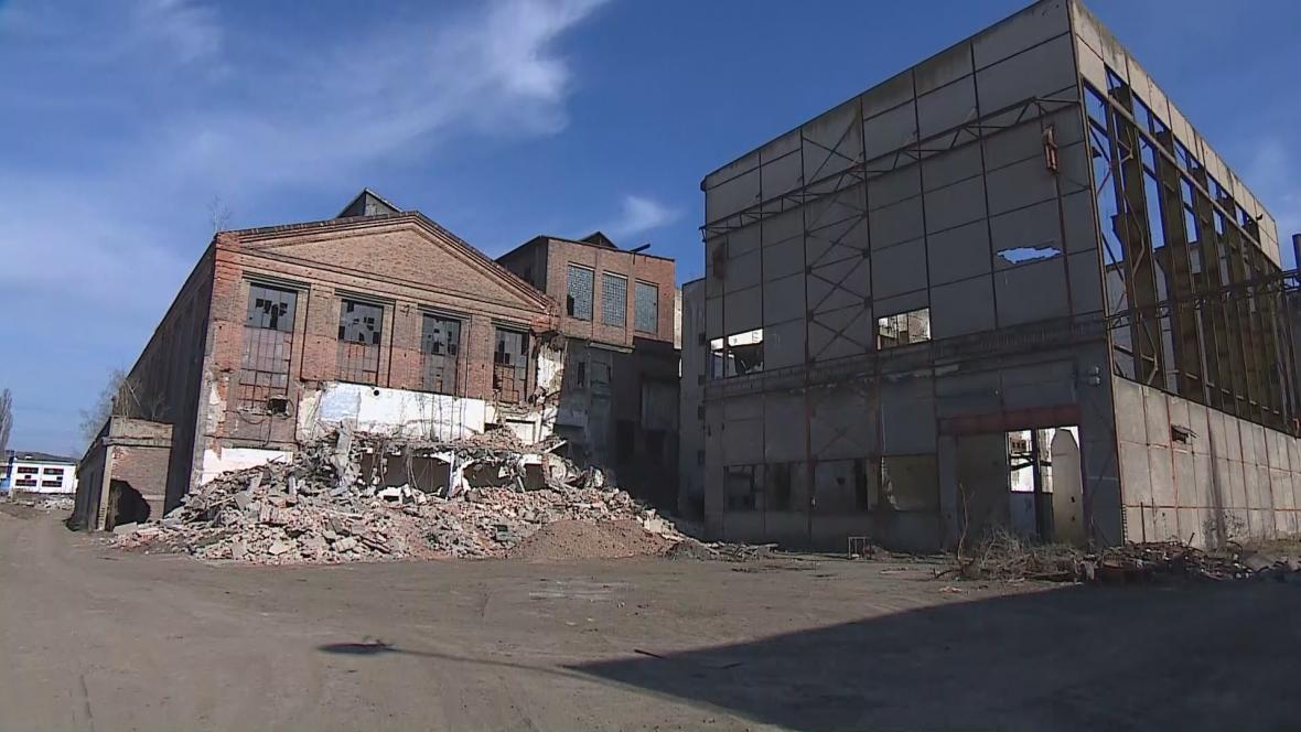 Bývalá elektrárna v Oslavanech