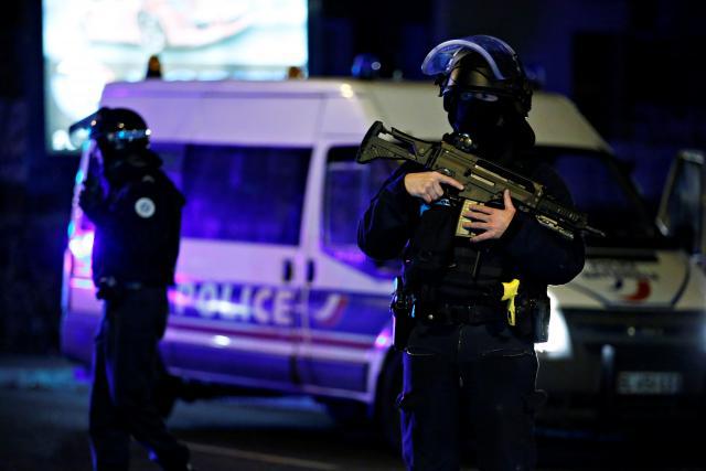 Ozbrojené složky v ulicích Štrasburku
