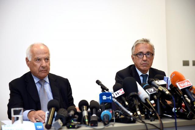 Představitelé Autostrade per l'Italia Fabio Cerchiai a Giovanni Castellucci