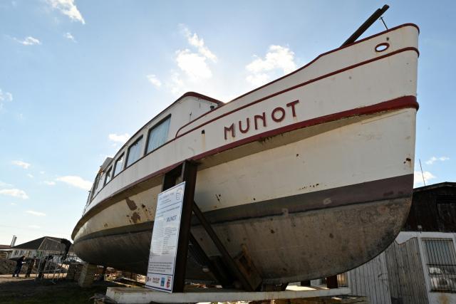 V Pasohlávkách opravují loď Munot z roku 1936