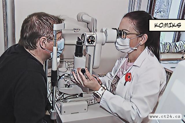 Českým letcům kontroluje zrak žena
