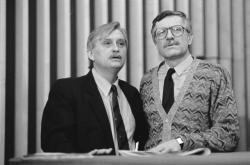 Jiří Dienstbier a Václav Klaus (1991)