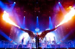 Rammstein při koncertě v Madison Square Garden