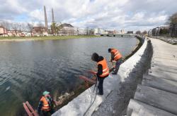 Stavba opatření proti povodni v Přerově