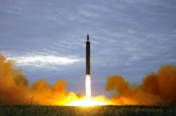Snímek údajně zachycující úterní odpálení rakety