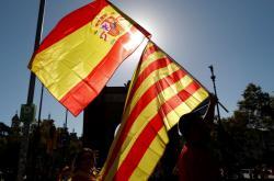 Španělská a katalánská vlajka