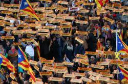 Demonstrace v Barceloně