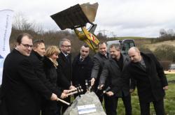 Zahájení stavby dálnice D6 u Krušovic