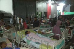 Zranění po zemětřesení na Jávě