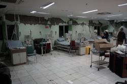 Zničená nemocnice ve městě Banyumas