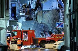 Zničený dům po výbuchu v Antverpách