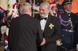 Miloš Zeman a Daniel Hůlka