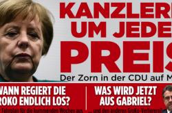 kAncléřka Angela Merkelová na homepagi Bild.de