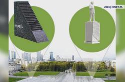Pomník a socha, jež mají vzrůst na Pilsudského náměstí
