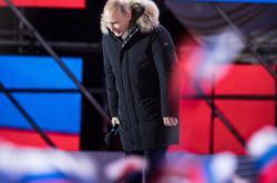 Vladimir Putin slaví vítězství