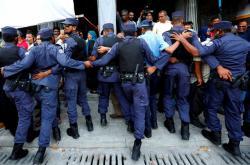 Protest na Maledivách