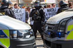 Zásah policie na demonstraci DSSS