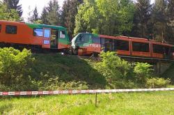 Nehoda vlaků u nádraží Křemže