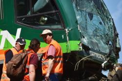 Srážka osobních vlaků u obce Mříč
