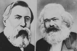 Bedřich Engels a Karel Marx