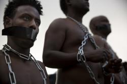 Protest eritrejských uprchlíků v Izraeli
