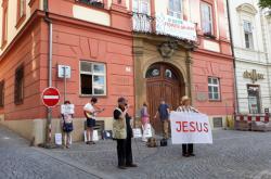 Protest proti Frljičovi v Brně