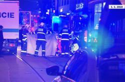 Nehoda ve Spálené ulici na Nový rok