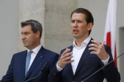 Rakouský kancléř Sebastian Kurz a bavorský premiér Markus Söder