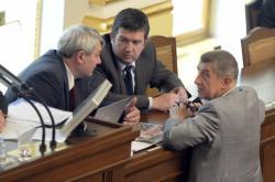 Vojtěch Filip, Jan Hamáček a Andrej Babiš