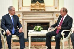 Benjamin Netanjahu s Vladimirem Putinem v Moskvě