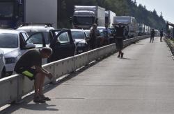 Kolaps dopravy na dálnici D1